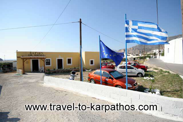 SOFIAS CAR RENTAL  CAR RENTAL IN  ARKASA - KARPATHOS